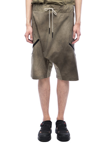 Shorts with side zips - sand cracked