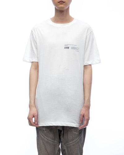 Tee with graphic moebius ring - off-white