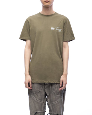 Tee with graphic moebius ring - olive