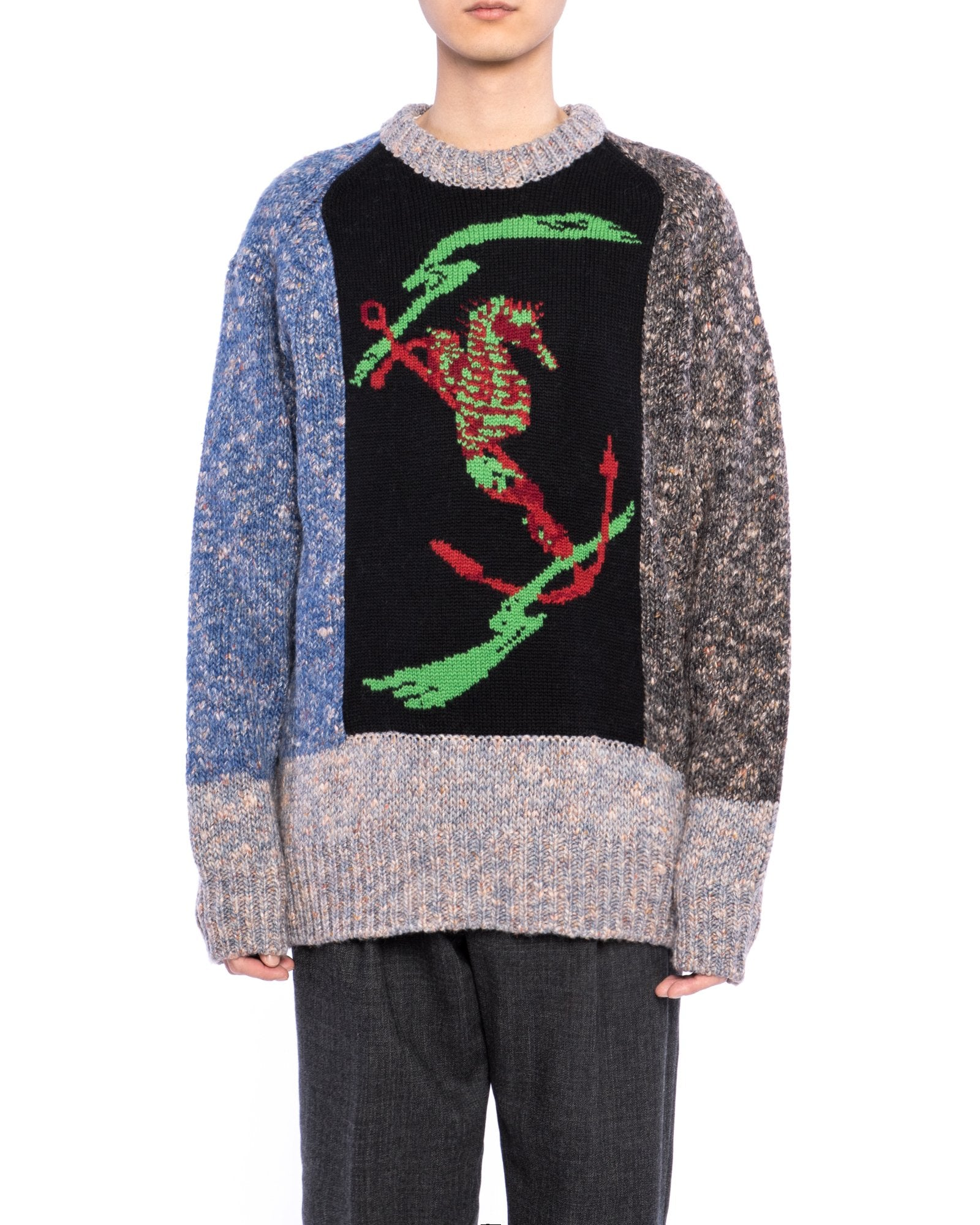 Low Gauge Knit Pullover - Black