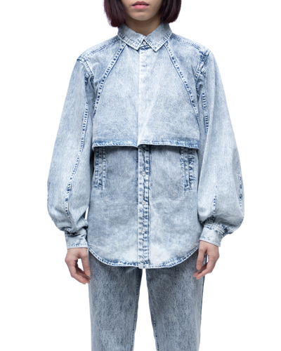 Bleach Denim Shirt L/S