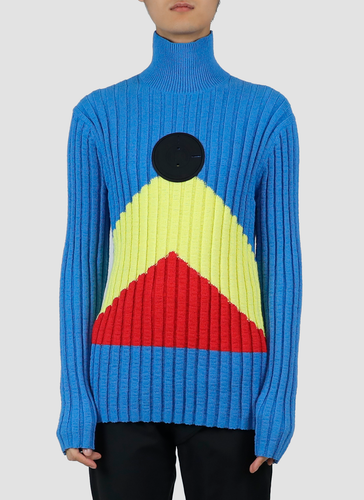 Turtleneck sweater - blue yellow red