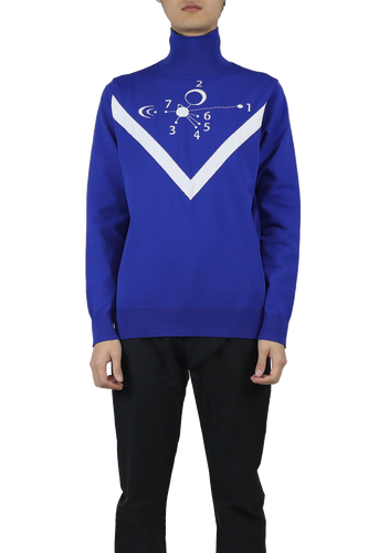 Pullover sweater - blue white