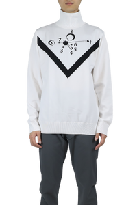 Pullover sweater - white black