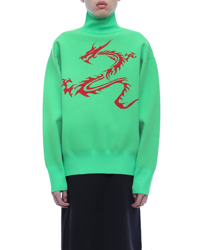 Dragon sweater - neon green