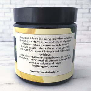 Let Them Eat Lemon Cake!  Body Butter