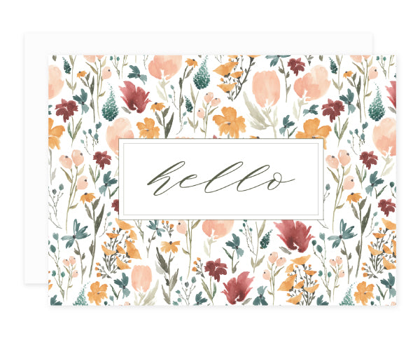 Wildflower Greeting Card Set Hello