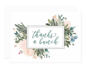 Blush + Olive Thank You Greeting Card Set