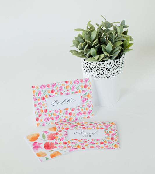 Japanese Blossoms Greeting Card Set