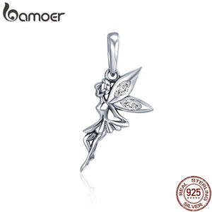 Sterling Silver Flower Fairy Dangle Charm
