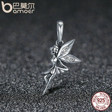 Load image into Gallery viewer, Sterling Silver Flower Fairy Dangle Charm