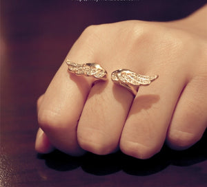 Glam Angel's Wings Ring