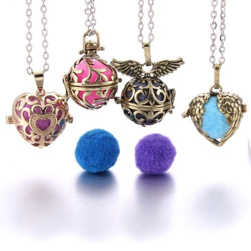 Music Chime Angel Ball Locket Necklace