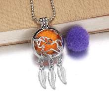 Load image into Gallery viewer, Angel Aroma Diffuser Locket Necklace