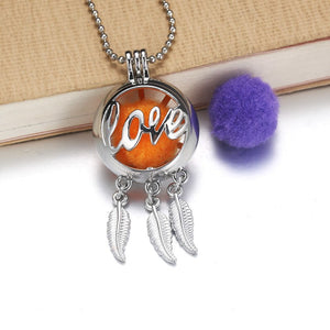 Angel Aroma Diffuser Locket Necklace