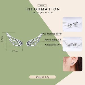 Fairy Wing Feathers Stud Earrings