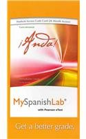 Myspanishlab With Pearson Etext -- Access Card -- For Anda! Curso Elemental (Multi Semester Access) (2Nd Edition)
