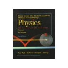 Load image into Gallery viewer, Physics For Scientists & Engineers: Study Guide And Student Solutions Manual - Volume 1