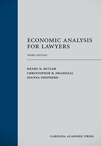 Economic Analysis For Lawyers, Third Edition