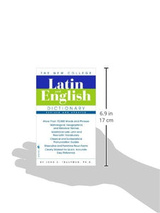 The Bantam New College Latin & English Dictionary (English And Latin Edition)