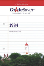 Load image into Gallery viewer, Gradesaver (Tm) Classicnotes 1984: Study Guide
