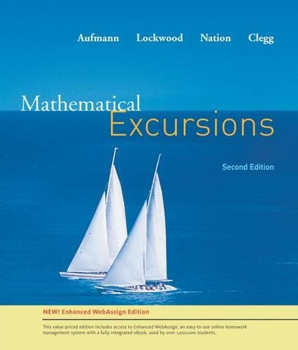 Mathematical Excursion, Enhanced Edition (Available 2010 Titles Enhanced Web Assign)