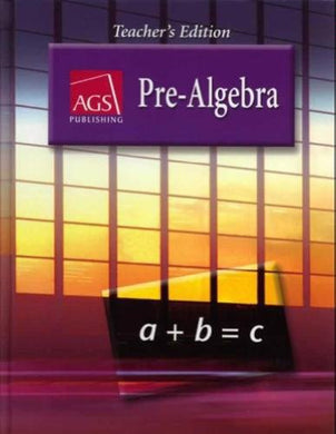 Pre-Algebra Teacher'S Edition