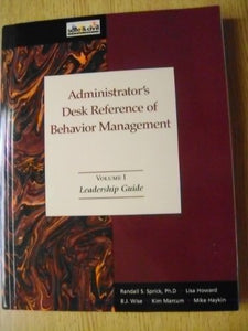 The Administrator'S Desk Reference Of Behavior Management (Three Volumes)