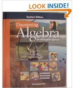 Discovering Algebra: An Investigative Approach (Teacher'S Edition)
