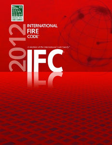 2012 International Fire Code (International Code Council Series)