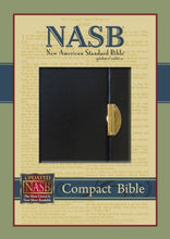 Load image into Gallery viewer, Nasb Compact Bible, Black - Snap Flap, Bl