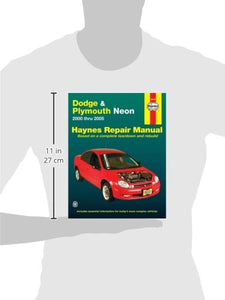 Dodge & Plymouth Neon 2000 Thru 2005 (Haynes Repair Manual)