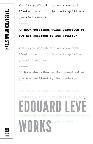 Edouard Leve: Works (French Literature)