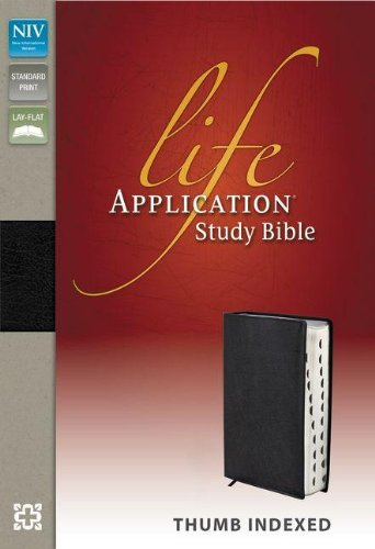 Niv, Life Application Study Bible, Genuine Leather, Black, Indexed