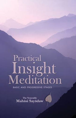 Practical Insight Meditations Basic And Progressive Stages
