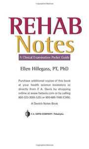 Rehab Notes: A Clinical Examination Pocket Guide (Davis Notes S.)