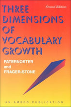 Load image into Gallery viewer, Three Dimensions Of Vocabulary Growth (2Nd Ed - #R450P)
