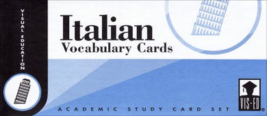 Italian Vocabulary Cards: Academic Study Card Set