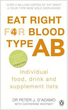 Load image into Gallery viewer, Eat Right For Blood Type Ab: Individual Food, Drink And Supplement Lists