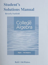 Load image into Gallery viewer, Student'S Solutions Manual For College Algebra