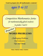 Load image into Gallery viewer, Practice Word Problems: Level 2 (Ages 9 To 11) (Competitive Mathematics For Gifted Students) (Volume 5)