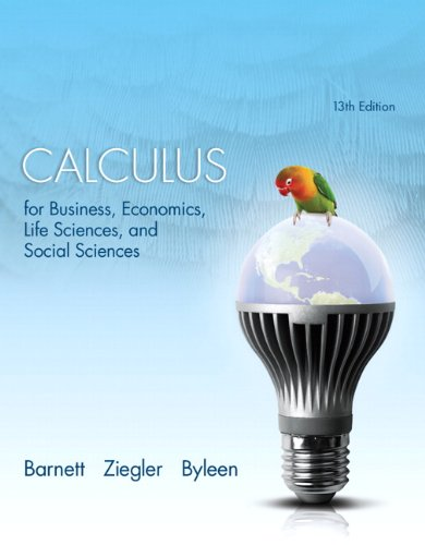 Calculus For Business, Economics, Life Sciences, And Social Sciences With New Mymathlab With Pearson Etext Access Card Package