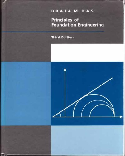 Principles Of Foundation Engineering, 3Rd (The Pws Series In Engineering)
