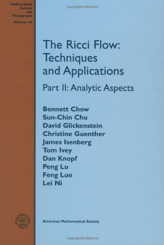 The Ricci Flow: Techniques And Applications (Mathematical Surveys And Monographs) (Part Ii)