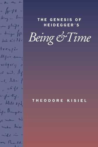The Genesis Of Heidegger'S Being And Time