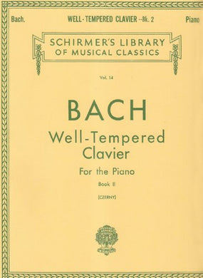 Well Tempered Clavier: 48 Preludes And Fugues For The Piano Book 2 Vol 14