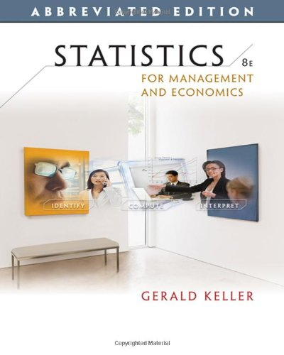 Statistics For Management And Economics, Abbreviated Edition (With Cd-Rom) (Available Titles Aplia)