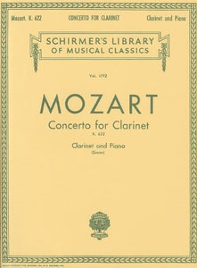 Mozart: Concerto For Clarinet, K. 622: For Clarinet And Piano (Schirmer'S Library Of Musical Classics)
