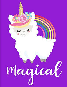 Magical Llamacorn Sketchbook: Cute Purple Rainbow Magic Llama Unicorn Blank Sketch Book For Girls - Christmas Gift For Daughter, Granddaughter, ... Inexpensive Party Favor (130 Pages 8.5 X 110)