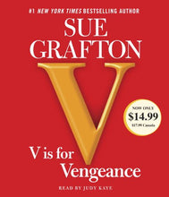 Load image into Gallery viewer, V Is For Vengeance (A Kinsey Millhone Novel)
